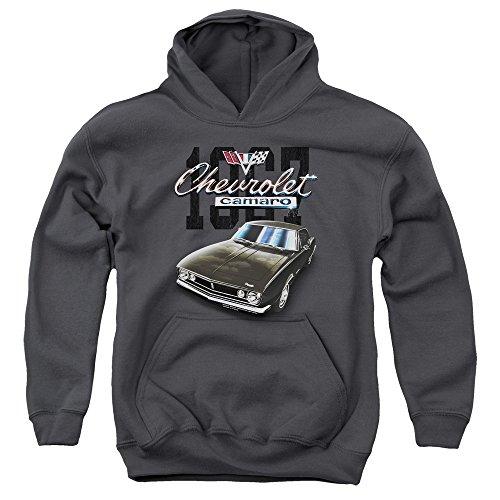 Chevrolet - - Jugend Classic Camaro Pullover Hoodie, Large, Charcoal (Camaro Hoodie)