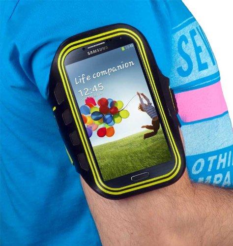 yayago Sportarmband Oberarmtasche Oberarm Tasche / Armband Sport Tasche für Samsung Galaxy S4 Mini (i9190) / S4 Mini Dual (i9192) zum Joggen / Fitness in Neon-Grün