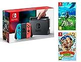 Nintendo Switch 32Gb Neon-Rot/Neon-Blau Pack Zelda: Breath of The Wild + Donkey Kong Country: Tropical Freeze Bild