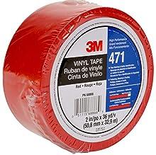 3M Nastro con Film Vinilico 471, 50 mm X 33 m, 24 Pezzi, Rosso