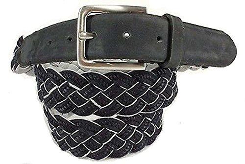 tommy-bahama-da-uomo-blu-navy-cotone-intrecciato-con-cintura-in-pelle-taglia-46