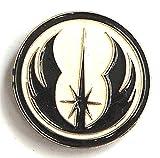 Pin de metal esmaltado, insignia broche de Star Wars orden del guerrero Jedi