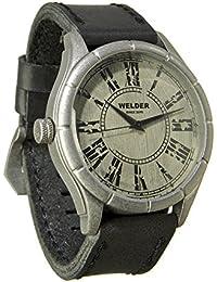 Welder K21-502 - Reloj para hombres, correa de cuero color negro