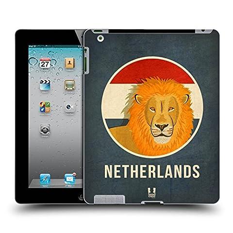 Head Case Designs Pays-Bas Animaux Patriotiques Étui Coque D'Arrière Rigide Pour Apple iPad 2