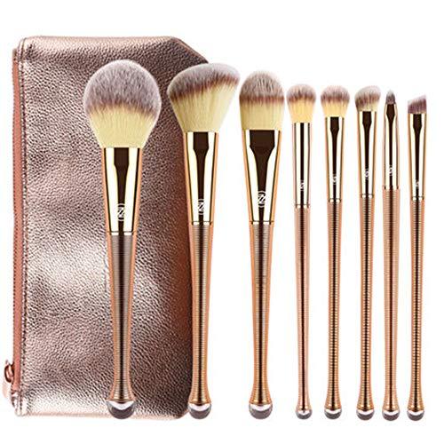 CC-Makeup Brush Pinceaux de Maquillage Maquillage Professionnel Pinceau Ensemble Fond de Teint synthétique Mélange Concealer Visage Yeux Poudre Liquide Crème Poudre Cosmétiques Pinceaux Kit