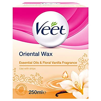 Veet Essential Oils and Floral Vanilla Warm Wax Microwavable Jar, 250 ml