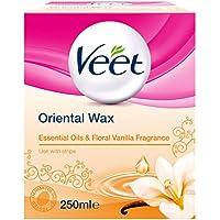 Cire chaude orientale Veet aux huiles essentielles et vanille florale -Passe au micro-ondes -250ml