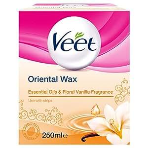 Veet Essential Oils and Floral Vanilla Warm Wax Microwavable Jar, 250 ml