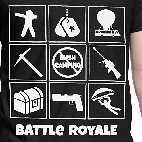 Corta Per Battle A Maglietta Uomo Royale Maniche Reale Battaglia XkPZui
