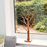 2ft Copper Wishing Tree - Battery Operated - Warm White LEDs - Timer by Festive Lights