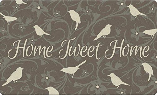 Toland Home Garden Tweet Home braun 45,7x 76,2cm Deko Vogel Boden Matte Blumen Fußmatte