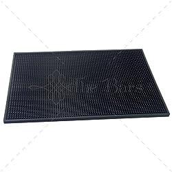 Alfombrilla de goma soporte para vasos-Bar mat 45 x 30 x 30 cm B009 color negro