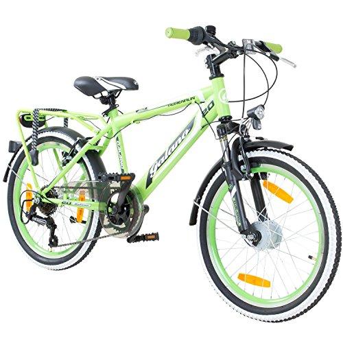 20 Zoll MTB Jugendfahrrad Galano Adrenalin Kinderfahrrad Mountainbike, Farbe:Grün