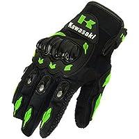 Kawasaki – Motorrad-Handschuhe, für den Sommer, mit stoßfesten Protektoren, aus Nylon und Polyester, Größe: L