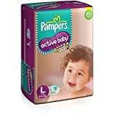 Pampers Active Baby Large Size Diapers (18 Count)