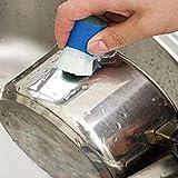 Taottao 1pièce en acier inoxydable Rod Magic Stick Dérouillant Nettoyage Brosse de lavage Nettoyage du pot de fleurs