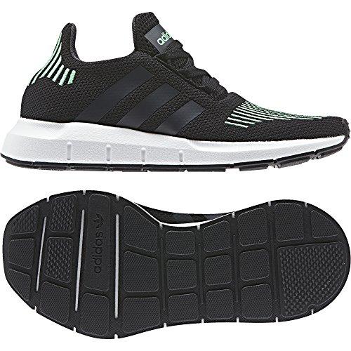 adidas Swift Run J, Chaussures de Gymnastique Mixte Enfant Noir (Core Black/utility Black F16/crystal White S16)