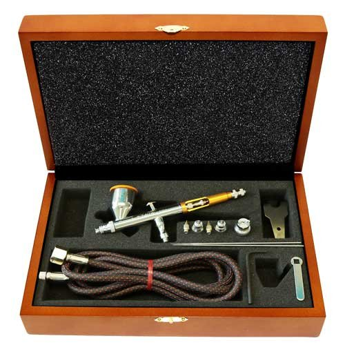 Paasche Airbrush Talon Gravity Feed Airbrush in Deluxe Holz Box, Mehrfarbig - Gravity Box