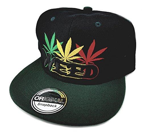 Snapback Sports Caps Basecap schwarz grün WEED