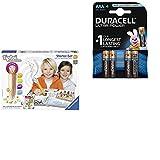 Ravensburger tiptoi Starter-Set Stift neu und Jahreszeiten-Buch mit Duracell Ultra Power Typ AAA Alkaline Batterien (4er Pack)