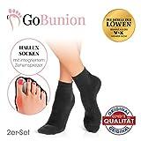 GoBunion Hallux Socken mit integriertem Zehenspreizer | Vorbeugend, schmerzlindernd, wirkt sofort | hoher Tragekomfort, nicht sichtbar | [Die Höhle der Löwen] (2 Paar, 39-42)