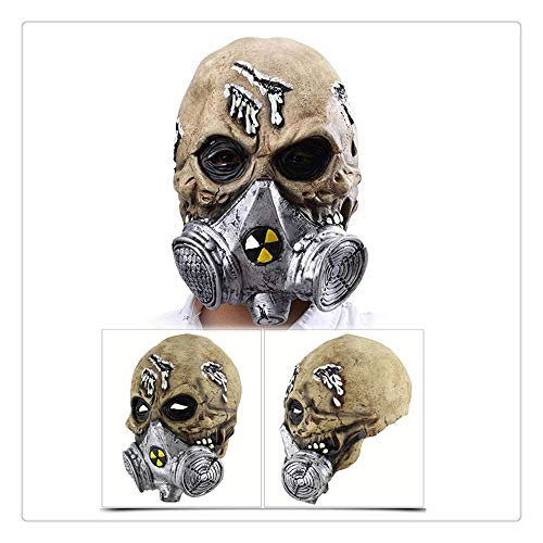 Z-one 1 Sch?del Airsoft Gas Masken Vollgesichts Paintball mit Scary Skeleton Zombie Maske f¨¹r Guy Fawkes Halloween Cosplay