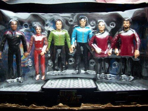Star Trek Starfleet Officers Collector Set mit Kirk, Spock, Picard, Riker, Nerys & Sisko von Playmates