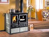 La Nordica Cuisinière à bois, Rosa DX pierre naturelle, puissance thermique nominale de 6,5KW, 185m3pouvant être chauffés, couleur pierre
