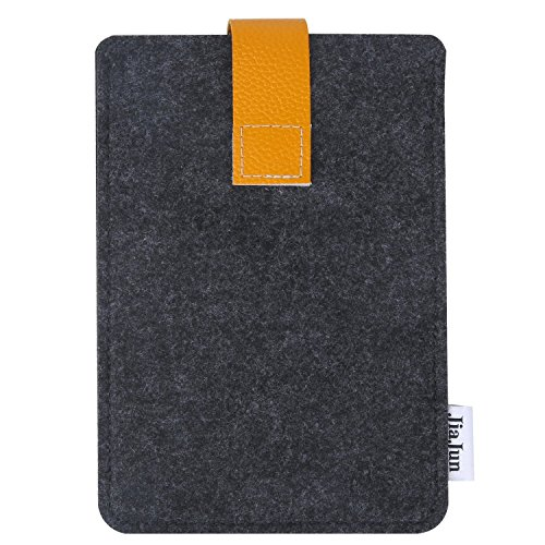 Kindle Paperwhite Hülle Case Filz für Amazon neue Kindle Paperwhite 1/2/3 und Kindle Fire HD 6 Verschluss mit Sleeves (Dunkel Grau) (Kindle Paperwhite Tasche)