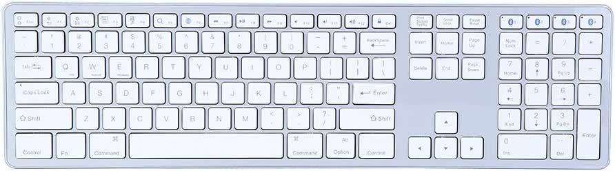 104 Keys Bluetooth Keyboard for Home Office Business Universal Slim Fashionable Portable Wireless Bluetooth 3.0 Multi-Pairing Keyboard Wireless Bluetooth Keyboard