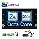 Dual Camera libero come regali! 6.2 pollici Stereo Android 7.1 OS auto con il supporto di unit¨¤ Car DVD CD Doppio Din Capo Radio GPS Bluetooth WIFI MirrorLink 64GB USB SD opzionale OBD2 / subwoofer / DAB / DAB + / 3G / 4G