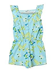 Beebay Girls 100% Cotton Blue Butterfly Print Jumpsuit (Blue,9 Years)