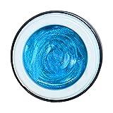 Farbgel Aquamarin blau Pearl Effekt hochdeckend 5ml