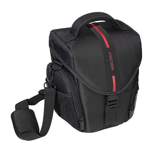 Essex grande SLR con custodia antipioggia e pellicola protettiva per Nikon D500/D610/D3400/D3300/D5300/D7100/D7200/Canon EOS 1300D/5D Mark II fotocamera–rosso