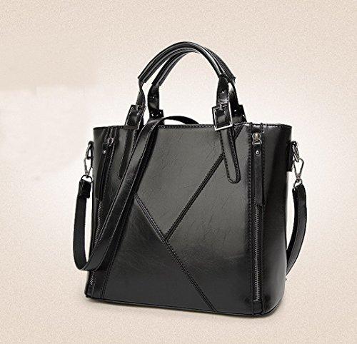 Aotela, Borsa a mano donna Size:26*31*10cm/10.2*12.2*3.9inch(H*L*W), Black (nero) - AotelaAA-123456 Black