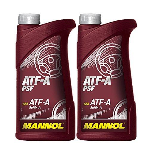 MANNOL 2 x 1L ATF A PSF/Servo- Getriebe- Hydraulik- oel Rot