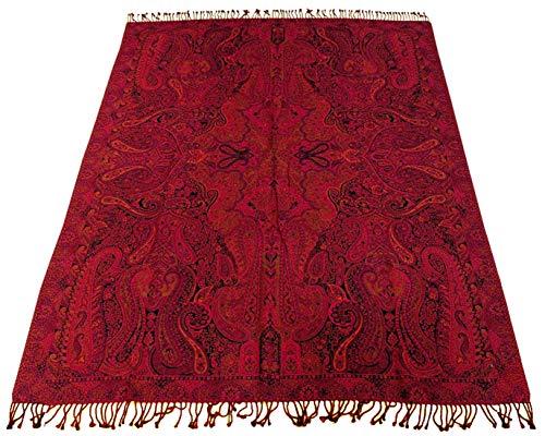 Lorenzo Cana Luxus Decke Jacquard gewebt aus Baumwolle mit feinster Wolle vom Merino - Lamm Paisley...
