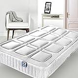 Keinode Matratze für Einzelbett, Gesteppter Stoff, Hochwertiger Schaumstoff, hypoallergene Materialien, 90 x 190 x 24 cm, Weiß, 4FT Small Double (120cm x 190cm x 25cm)