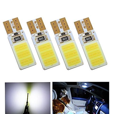 S&D 4 X T10 High Power LED Bulbs Canbus Error Free COB Lamp W5W 501 car bulbs interior Lights Car Light Source parking 12V