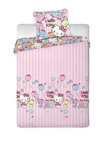 Original Sanrio Hello Kitty 160x200 NEU Bettwäsche Bettgarnitur Flanell Öko Tex Stanrd 100 Baumwolle