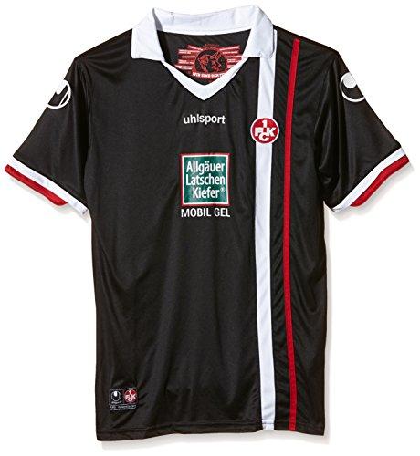 uhlsport FCK 3.KA - Camiseta de manga corta, diseño del FC Kaiserslautern negro Schwarz/Chilirot Talla:XXXS