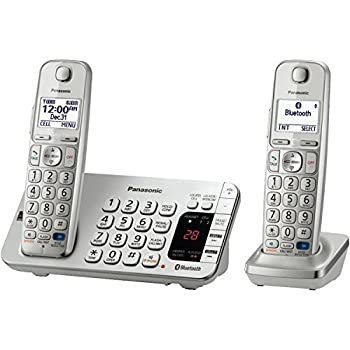 Panasonic KX-TGE272S Link2Cell Bluetooth Enabled Phone with Answering Machine & 2 Cordless Handsets by Panasonic