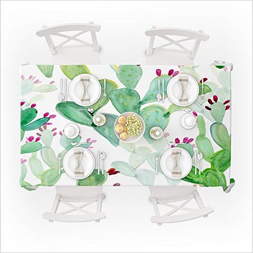 hhlwl Tischdecke Party Dekoration Große Zentimeter Tischdecke 3D Cartoon Kaktus Rechteckige Tischdecke, 134 X 183 cm