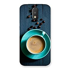 Neo World Blue Coffee Cup Back Case Cover for Motorola Moto G4 Plus
