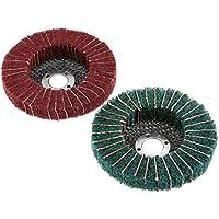 "1pc 4""grano 180# 320# Solapa de nylon rueda de pulido muela disco 100mm"
