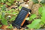 XZB Solar-Ladegerät Power Bank 20.000mAh tragbare Handy-Ladegerät Power Bank Dual USB 1.0A/2.1A max wasserdichte LED-Taschenlampe externe Batterie (Universal) (Farbe : D)