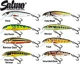 Salmo Minnow Wobbler - Köder für Hecht, Zander, Barsch Forelle, Hechtköder, Hechtwobbler, Barschwobbler, Forellenwobbler, Länge/Gewicht/Laufverhalten/Tauchtiefe:5cm / 3g / schwimmend / 0.5-1.0m, Salmo Farben:Rainbow Dace