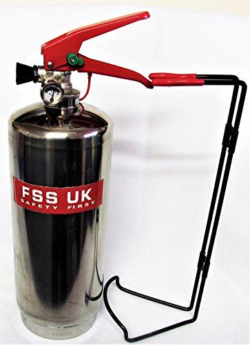 Chrom Silber Finish FSS UK PLUS 2kg ABC Dry Powder Feuerlöscher. CE. Ideal für Haushalte Küche Arbeitsplatz Büros Autos Vans Boote Lager Garagen Hotels Restaurants Hotel-boot