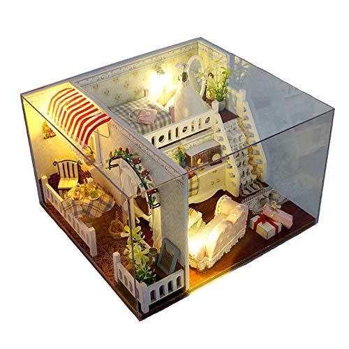 (Kid Workbench DIY Set Spielzeug Margaret Creative Diy Hut Manuelle Montage Modell Valentinstag Geburtstagsgeschenk Lernspielzeug Mini Diorama Haus Renovierung DIY Dollhouse - Kreatives Weihnachtsgesch)