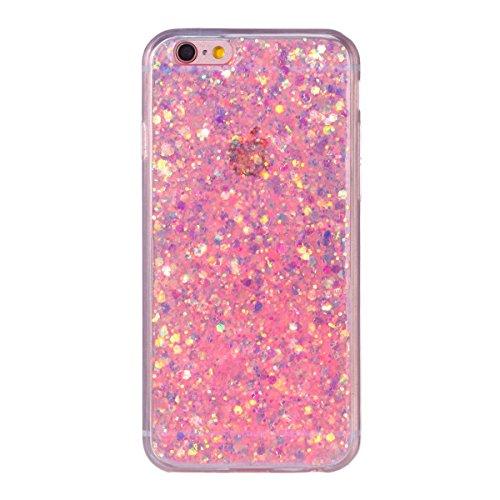 "MOONCASE iPhone 6/iPhone 6s Hülle, Bling Glitter Weich TPU Handyhülle Ultra Slim Anti-Kratzer Stoßfest Schutz-tasche Case für iPhone 6/iPhone 6s 4.7"" Lavendel Rosa"